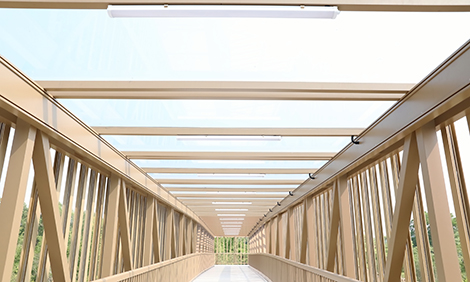 广东省第一座铝合金天桥,铝遊家首创