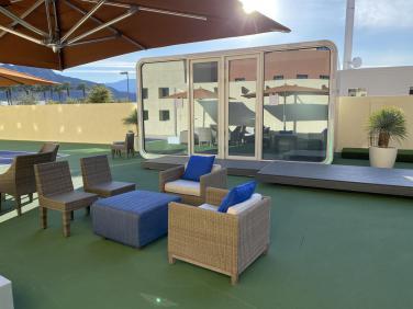 美国加州网球赛移动FILA展厅与休息室