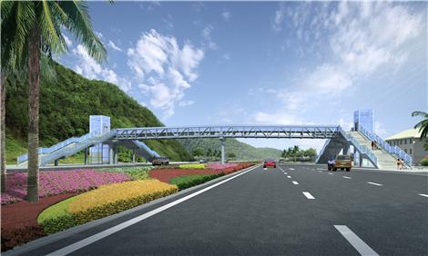 铝之桥硬技术打造珠海市首座铝合金天桥